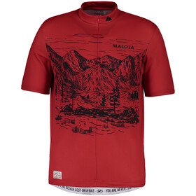 Maloja SerlasM. Shortsleeve Bike Jersey Herren red poppy